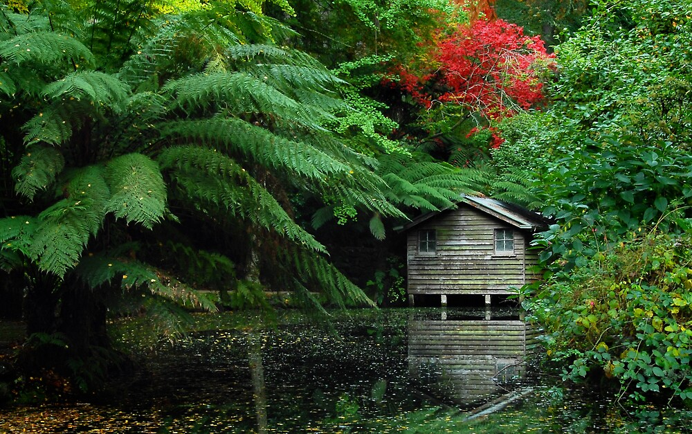 Alfreds Little Boathouse by Robert Mullner