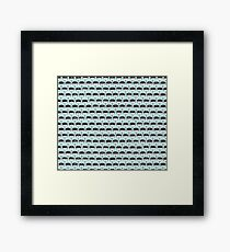Infinite Typewriter_Bg Mint Framed Print