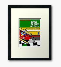 ITALY GRAND PRIX: Vintage Auto Racing Advertising Print Framed Print