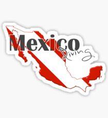 Mexico Diving Diver Flag Map Sticker