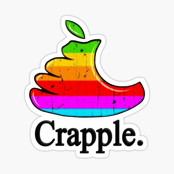 Crapple Logo Sticker