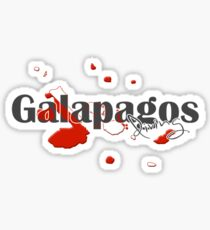 Galapagos Islands Diving Diver Flag Map Sticker
