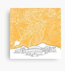 Yerevan Armenia Background Map Canvas Print