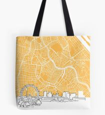 Vienna Austria Background Map Tote Bag