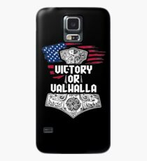 Victory or Valhalla - Vikings inspired Print with Thors Hammer Case/Skin for Samsung Galaxy