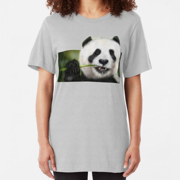 Munching Panda Slim Fit T-Shirt