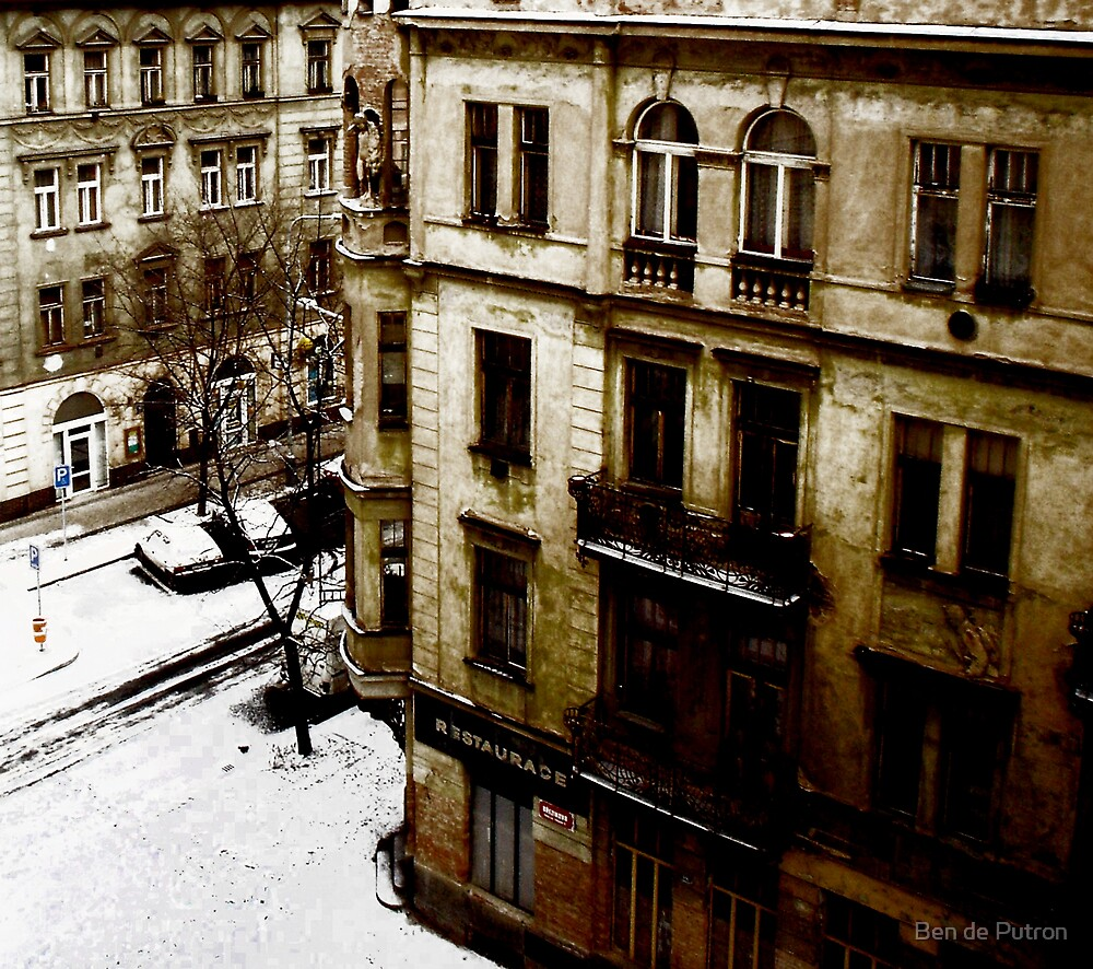 Snow in Prague by Ben de Putron