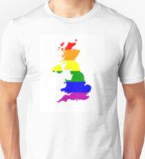 uk gay map Unisex T-Shirt
