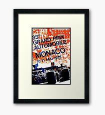 MONACO GRAND PRIX: Vintage Auto Racing Advertising Print Framed Print