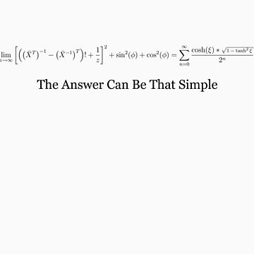 The Answer Can Be That Simple by Apotheosis