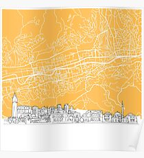 Sarajevo Bosnia and Herzegovina Skyline Map Poster