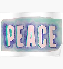 Peace Watercolor Poster