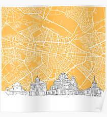 Sofia Bulgaria Skyline Map Poster
