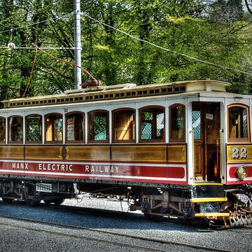 The Electric Tram At Laxey Station On Isle of Man by manxhaven