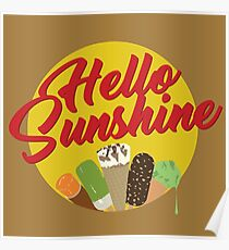 Ice cream and sunshine in the summer Poster