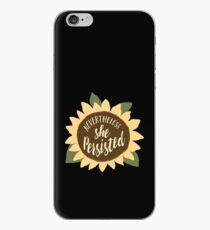 """""""Nevertheless She Persisted"""" iPhone Case"""