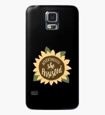 """Nevertheless She Persisted"" Case/Skin for Samsung Galaxy"