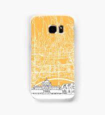 Zagreb Croatia Skyline Map Samsung Galaxy Case/Skin