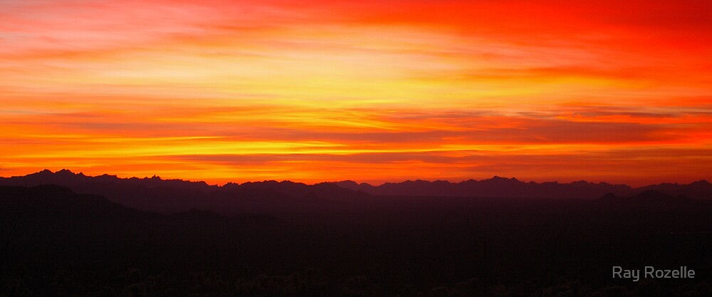 Arizona Sunset by Ray Rozelle