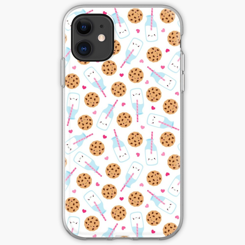 Cute Milk and Cookies Pattern iPhone Case & Cover