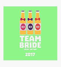 Team Bride Great Britain 2017 Rqqh7 Photographic Print