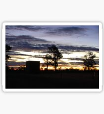 Early sunset Sticker