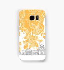 Helsinki Finland Skyline Map Samsung Galaxy Case/Skin