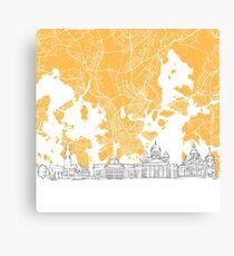 Helsinki Finland Skyline Map Canvas Print