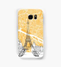 Paris France Skyline Map Samsung Galaxy Case/Skin