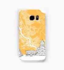 Tbilisi Georgia Skyline Map Samsung Galaxy Case/Skin