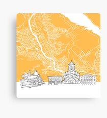 Tbilisi Georgia Skyline Map Canvas Print