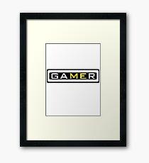 gamer tshirt brazzers edition Framed Print
