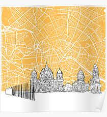 Berlin Germany Skyline Map Poster