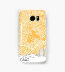 Athens Greece Skyline Map Samsung Galaxy Case/Skin