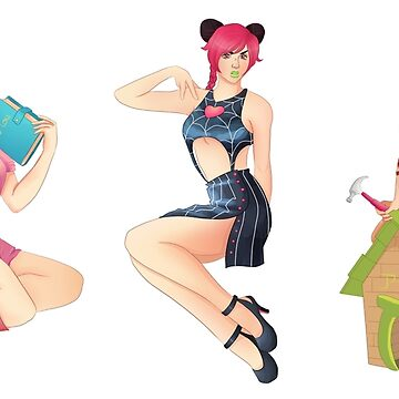 Jojo girls as pin-ups by WowBeva