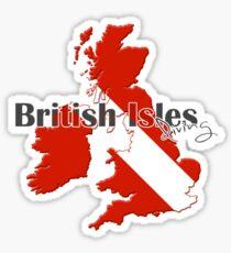 British Isles Diving Diver Flag Map Sticker