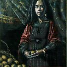 Girl with oranges by Fiona O'Beirne
