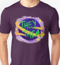 Space Pronouns (They/Them) Unisex T-Shirt