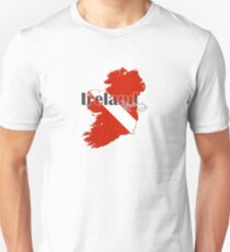 Ireland Diving Diver Flag Map T-Shirt