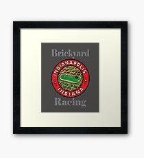 Vintage Brickyard Racing Indianapolis Indiana Framed Print