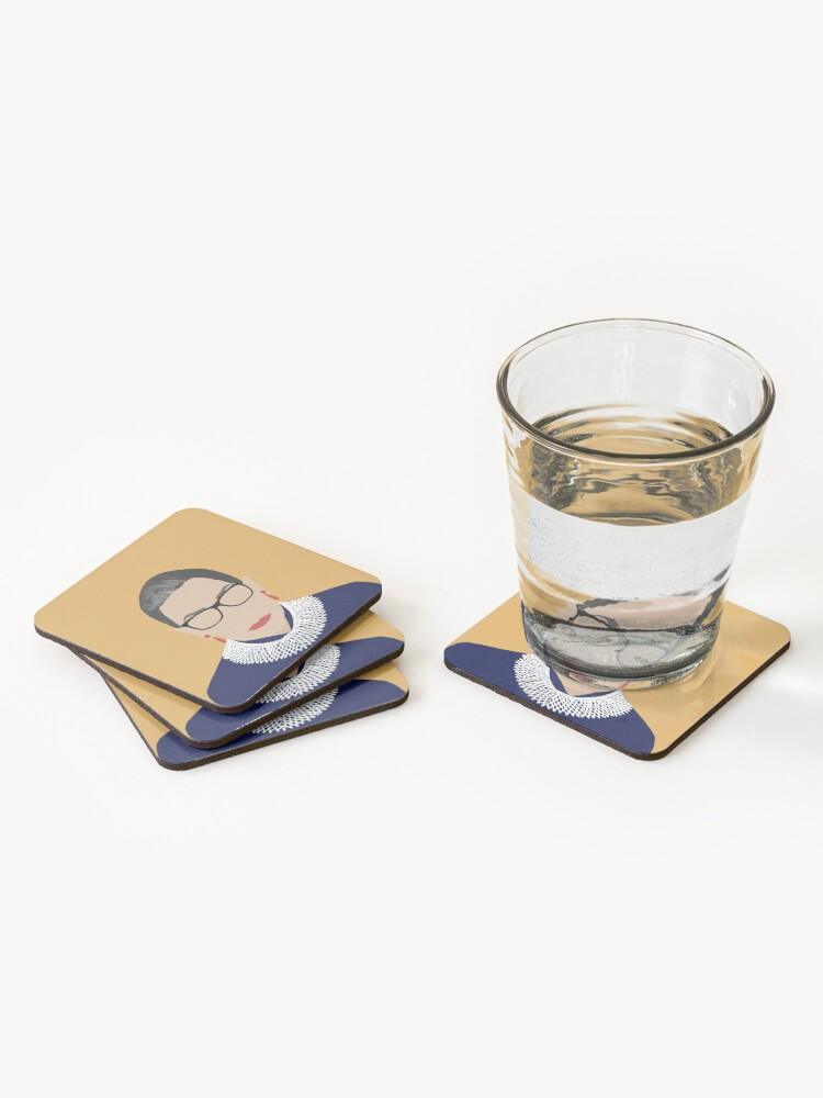 Alternate view of Ruth Bader Ginsburg  Coasters (Set of 4)