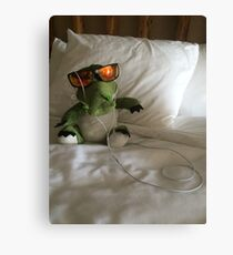 Cool Croc At The Hotel Canvas Print