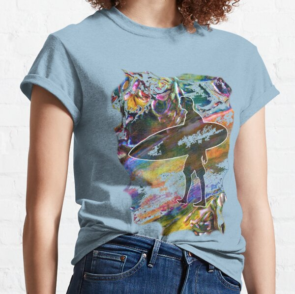 SURF IS UP COLOURFUL SURFER SILHOUETTE Classic T-Shirt