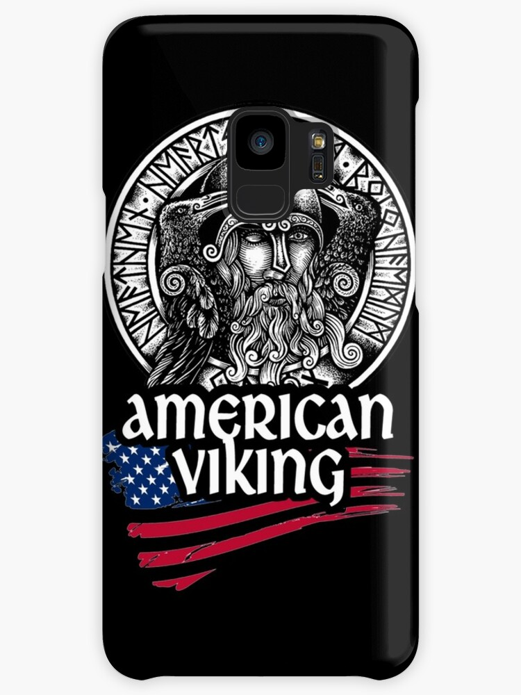 American Viking Odin Symbol With Nordic Runes Cases Skins For