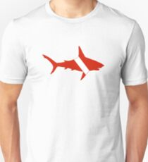 Shark Scuba Diver Silhouette Unisex T-Shirt