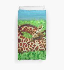 Serenity … a2 Sleeping Baby Giraffe  Duvet Cover