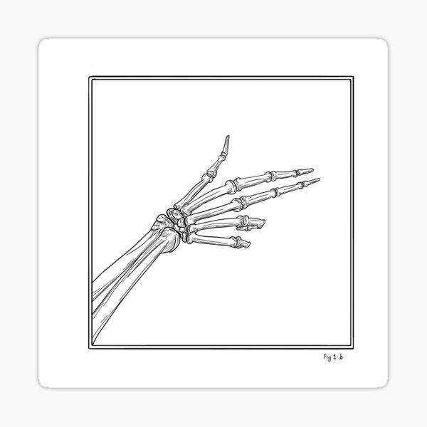 Hand Study - Fig 1-b Sticker