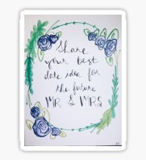 Date ideas for the Mr and Mrs Sticker