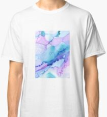 Abstract Ink - blue/purple Classic T-Shirt