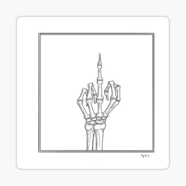 Hand Study - Fig 1-c Sticker